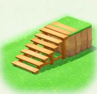 Baumstammtreppe