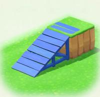 Blau-Bretterrampe