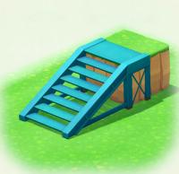 Blau-Stahltreppe