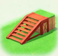 Rot-Stahltreppe