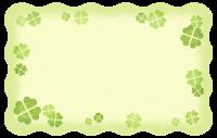 Glücksklee-Karte