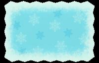 Schneeflocken-Karte