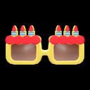 Geburtstagsbrille [Gelb]