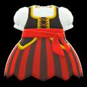 Piratenkleid [Rot]