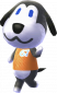 Fido in Animal Crossing: New Leaf