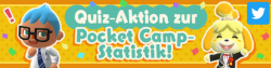 Quiz-Aktion zur Pocket Camp-Statistik