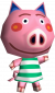Oink in Animal Crossing: Wild World