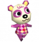 Pia in Animal Crossing: Wild World